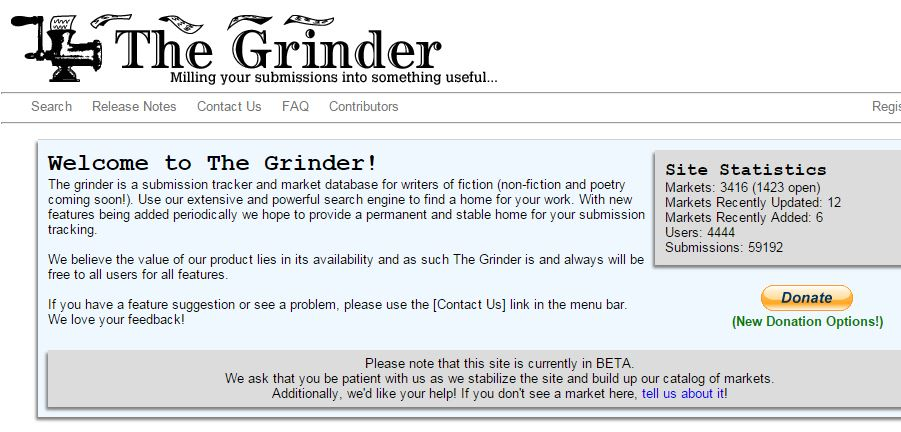FREE Submission Tracker: The Grinder – Trish Hopkinson