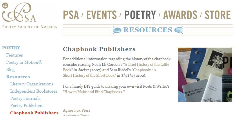 Want to create a chapbook? Get it published or print your own ...