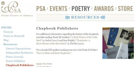 Want to create a chapbook get it published or print your own of chapbook publishers on their site with links this is a great place to start if you have a small collection of poems youd like to have published freerunsca Image collections
