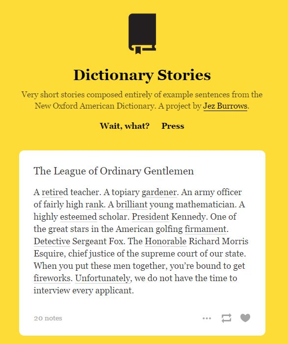 dictionary stories
