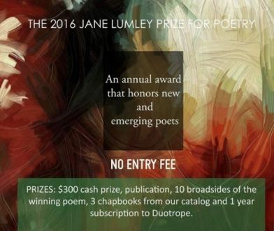 FREE Poetry Contest, $300 cash prize + publication – The Jane Lumley