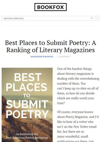 Best Places to Submit Poetry: A Ranking of Literary