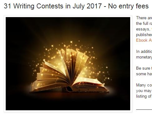 essay contest no entry fee 2018 essay/memoir contest  non-fiction editor for general publication in streetlight's essay/memoir category entry fee:  the 2017 flash fiction contest,.