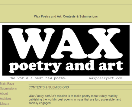 2 FREE Contests, $10-$200 cash prizes – Wax Poetry & Art