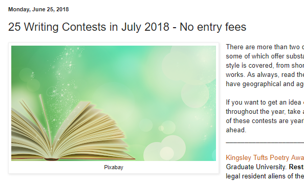 Free Poetry Contests — Blogs, Pictures, and more on WordPress