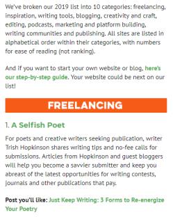 best creative writing websites